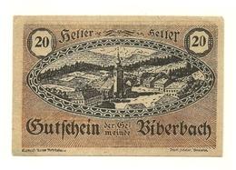 1920 - Austria - Biberbach Notgeld N45, - Austria