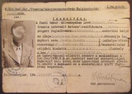 """Carte D'identité Hongroise """"Igazolvany"""" D'un Français Habitant à Budapest - 1943 - Documents Historiques"""