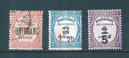 France Timbre Taxes De 1929/31 N°63 A 65  Neufs * (n°63 Oblitéré) Cote 122 € Prix De Depart A 15% - Taxes