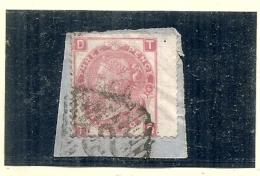 Grande Bretagne - N° 33 (5 Ou 6) Sur Fragment - Côte 50€ - - 1840-1901 (Victoria)