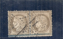 FRANCE  Cérés 3 Eime République 30 Cts Brun - Paire  Côte 15€ - 1871-1875 Ceres