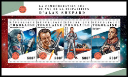 TOGO 2018 MNH** Alan Shepard Space Raumfahrt Espace M/S - OFFICIAL ISSUE - DH1828 - Space