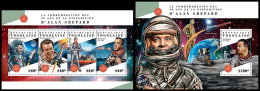 TOGO 2018 MNH** Alan Shepard Space Raumfahrt Espace M/S+S/S - OFFICIAL ISSUE - DH1828 - Afrika