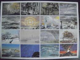 Image D'école - N° 065 - Phénomènes De La Nature - Format 24 X 33 Cm - 1955 - Planche Entière Non Découpée 12 Images - Fichas Didácticas