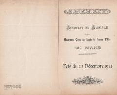 LE MANS , Association Amicale Des Anciennes élèves Du Lycée De Jeunes Filles Du Mans , Fête 1921 - Frankrijk