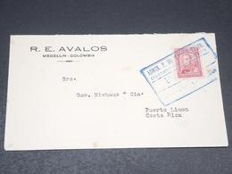 COLOMBIE - Enveloppe De Medellin Pour Le Costa Rica En 1931 - L 20494 - Colombie