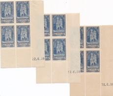 CC-92:FRANCE: Lot Avec  Coins Datés **  N°399 (3 Dates Différentes)  Mini Froissures De Manip Hors Timbres - Ecken (Datum)