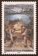 ANDORRE  2001 -  YT 543 -  Mendiant  - NEUF** - Cote 1.90e - Andorre Français