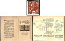 517 LIBERATION FAUX PETAIN FFI RESISTANCE + NOTICE EXPLICATIVE - France
