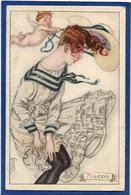 CPA MAUZAN Femme Girl Women Glamour écrite - Mauzan, L.A.