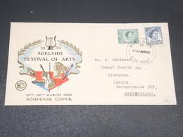 AUSTRALIE - Enveloppe Souvenir Du Festival Des Arts De Adelaide En 1960 - L 20507 - 1952-65 Elizabeth II : Pre-Decimals