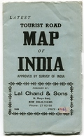 Inde Tourist Road Map Of India 1988 - Roadmaps