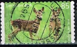 Bund 2018, Michel# 3377 O Tierkinder: Reh, Selbstklebend Aus Markenset - [7] Repubblica Federale