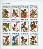 Angola 1999-Colibris-YT 1003/14-Petite Feuille+B26***MNH - Hummingbirds