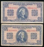 2 BILJETTEN TWEE EN EEN HALVE GULDEN 1945 - 2 AFBEELDINGEN - [2] 1815-… : Royaume Des Pays-Bas