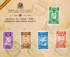 Etiopía  SOBRE. Yv 279/83. 1959. Serie Completa, En Sobre No Circulado De La ETHIOPIAN RED CROSS SOCIETY. BONITA. - Etiopía