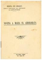 CASTELPETROSO NOVENA A MARIA SS. ADDOLORATA LIBRETTO 18 PAGINE - Isernia