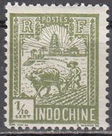 INDO CHINA     SCOTT NO.  115     MINT HINGED     YEAR 1927 - Nuevos