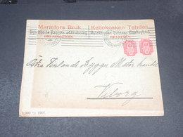 FINLANDE - Enveloppe Commerciale De Helsinki En 1907 Pour Viborg - L 20529 - 1856-1917 Administration Russe