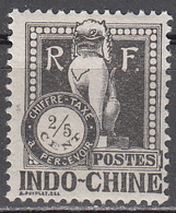 INDO CHINA     SCOTT NO.  J31    MINT HINGED     YEAR 1922 - Usados