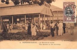 TAHITI : Papeete-tahiti, Le Marché La Matin - Tres Bon Etat - Polynésie Française