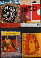 4 ETIQUETTES Différentes De VIN - De Pays D'OC - En Bon Etat - Collections & Sets