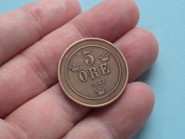 1883 - 5 ORE ( KM 736 ) Uncleaned ! - Schweden