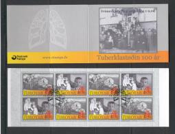 Faroe 569 Booklet Used 2008 Tuberculosis Sanatorium Medicine Health CV 16 Eur - Isole Faroer