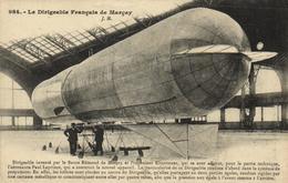 1 Cpa Le Dirigeable Français De Marcay - Dirigibili