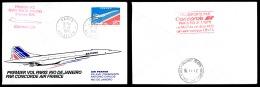 Avion Concorde - 1er Vol Paris -> Rio Le 21 Janvier 1976 - Acheminé à Bord - Obl. PARIS AVIATION   ..Réf.DIV20138 - Concorde