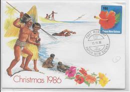 PAPUA NEW GUINEA -  LETTRE ENTIER DECOREE (FLORE) - FDC - Papouasie-Nouvelle-Guinée