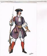 ESPAGNE Regiment Du Roi ILLUSTRATEUR CARLO  1716  SERIE 1 N°3 - Uniformes