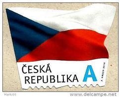 Czech Republic - 2015 - Flag Of The Czech Republic - Mint Definitive Self-adhesive Stamp - Tchéquie
