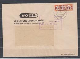 DDR Dienstbrief Plauen 3.6.59 Mit 1x Dienst B 23 H 992791 Nach Berlin (rs.AK-o) - DDR