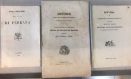 Ferrara 3 Opuscoli 1834/1844 - Libri, Riviste, Fumetti