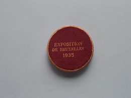 50 Franc EXPOSITION De BRUXELLES 1935 WERELDTENTOONSTELLING (Origineel Doosje/carton) Uncleaned ! - 1934-1945: Leopold III