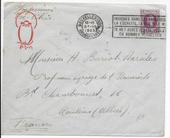 """BELGIQUE - 1925 - ENVELOPPE IMPRIMES """"EX LIBRIS"""" De BRUXELLES => MOULINS (ALLIER) - Belgique"""
