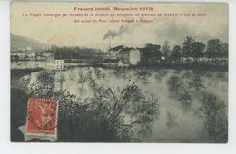 FROUARD Inondé (Novembre 1910) - Les Paquis Submergés Par Les Eaux De La Moselle Qui Atteignent Les Branches Des Arbres - Frouard