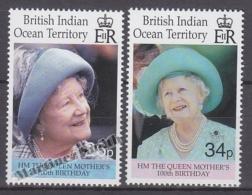 British Indian Ocean 2000 Yvert 229- 230, Centenary Of The Mother Queen Elizabeth - MNH - British Indian Ocean Territory (BIOT)