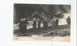 INCENDIE DES MAGASINS DU NORD A SAINT OUEN . LES POMPIERS TENTENT DE FAIRE LA PART DU FEU - Sapeurs-Pompiers