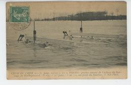 TOURS - CRUE DU CHER (1910) - Portes Amont De L'Ecluse Du Barrage De ROCHEPINARD - Tours