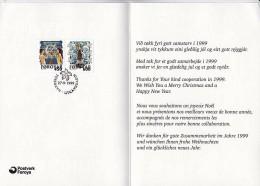 Faroe F25 Used 1999 Greeting Card Christmas - Faroe Islands