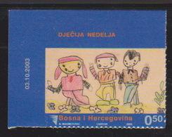 Bosnia, Children Week 2003, Self Adhesive Stamp, MNH - Bosnia And Herzegovina