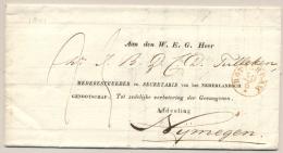 """Nederland - 1841 - Cover Naar """"Genootschap Tot Zedelijke Verbetering Van Gevangenen"""" In Nijmegen - Nederland"""