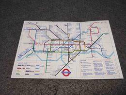 VINTAGE BROCHURE ENGLAND LONDON UNDERGROUND PLANNER RAILWAY MAP UNKNOWN DATE - Europe