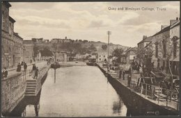 Quay And Wesleyan College, Truro, Cornwall, C.1910 - Valentine's Postcard - England