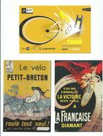 14 C - TOUR DE FRANCE 2018 - ETAPE DE BREST (3 CARTES PUB) - Cyclisme