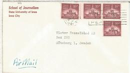 ESTADOS UNIDOS USA 1961 IOWA CC SELLOS PERFORADO PERFIN SCHOOL OF JOURNALISM - United States