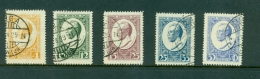 LATVIA LETTLAND 1929 SET OF 5 STAMPS Sc.B46-B50 M.144-148A USED 2215 - Latvia