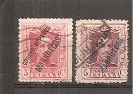Tánger Español - Edifil 18-19 - Yvert 92-92A (usado) (o) - Marruecos Español